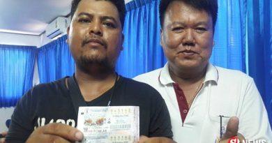 หนุ่มกัมพูชาโชคดีถูกหวยรัฐบาลไทยรางวัลที่1